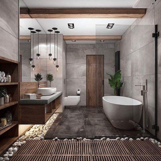ванна кімната у стилі лофт